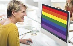 Концепция влюбленности символа радуги свободная гомосексуальная Стоковые Изображения RF