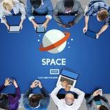 Концепция галактики вселенной астронавта космоса наружная стоковые фотографии rf