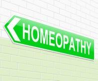 Концепция гомеопатии Стоковое Изображение