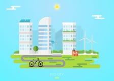 Концепция города Eco Стоковое фото RF