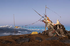 Концепция горы располагаясь лагерем Стоковая Фотография