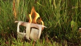 Концепция горящего дома видеоматериал