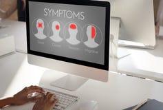 Концепция головной боли здравоохранения болезни болезни симптомов стоковые изображения