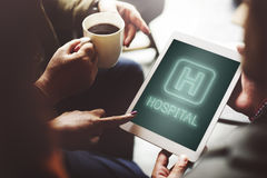 Концепция графика значка обработки здоровья лечения больницы Стоковые Фотографии RF