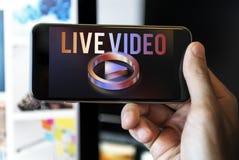 Концепция графика игрока мультимедиа видео в реальном времени стоковые фотографии rf