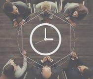 Концепция графика интервала продолжительности контроля времени Стоковые Изображения