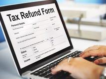 Концепция графика документа формы возврата налога Стоковые Изображения RF