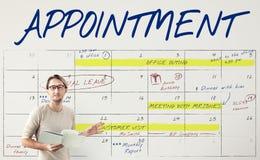 Концепция графика план-графика календаря расписания повестки дня стоковая фотография rf