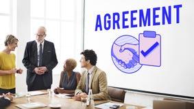 Концепция графика рукопожатия дела делового соглашения Стоковое Изображение RF
