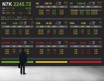 Концепция графика финансов валют фондовой биржи торгуя Стоковые Фотографии RF