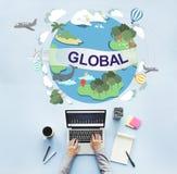Концепция глобальной общины температуры климата всемирная стоковое фото