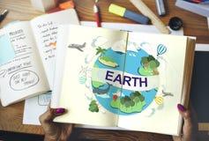 Концепция глобуса консервации окружающей среды экологичности земли Стоковая Фотография