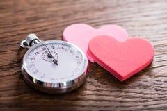 Концепция датировка скорости Сердца и секундомер стоковые фотографии rf