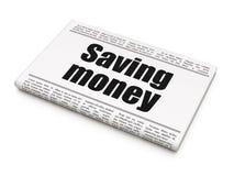 Концепция дела: деньги сбережений газетного заголовка