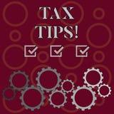 Слово писать подсказки налога текста Концепция дела для принудительного вклада для того чтобы заявить доход собиратая налоги прав бесплатная иллюстрация