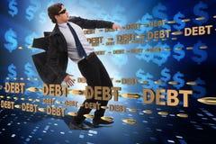 Концепция дела задолженности и подержания стоковое изображение