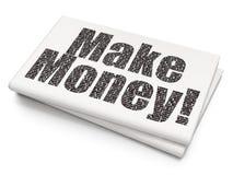 Концепция дела: Заработайте деньги! на пустой предпосылке газеты