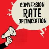 Концепция дела оптимизирования конверсионного курса Стоковое Изображение