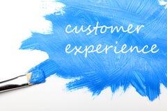 Концепция дела опыта клиента стоковая фотография rf