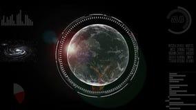 Концепция дела технологии анимации земли планеты вращая будущая