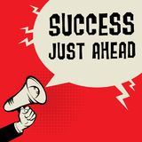 Концепция дела успеха как раз вперед Стоковое Изображение