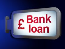 Концепция денег: Банковская ссуда и фунт на предпосылке афиши иллюстрация штока