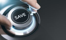 Концепция денег сбережений, предпосылка финансового эксперта стоковое изображение