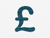 Концепция денег: Фунт на предпосылке стены иллюстрация вектора