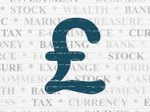 Концепция денег: Фунт на предпосылке стены бесплатная иллюстрация