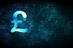 Концепция денег: Фунт на цифровой предпосылке иллюстрация штока