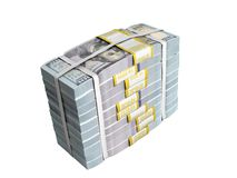 концепция денег Deposite большой стог наличных денег долларовых банкнот с Bo Стоковые Фотографии RF