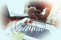 Концепция диаграммы фокуса цели цифровой, диаграммы взаимодействует, виртуальный Стоковое Изображение RF