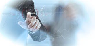 Концепция диаграммы фокуса цели цифровой, диаграммы взаимодействует, виртуальный Стоковое Фото