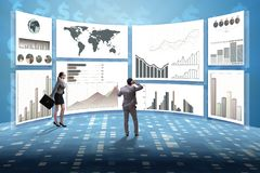Концепция диаграмм дела и визуализирования финансов стоковые изображения rf