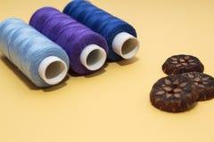 Концепция для needlework, шить, вышивка стоковая фотография rf