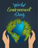 Концепция дня окружающей среды миров бесплатная иллюстрация