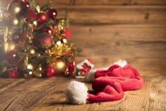 Концепция дня Санта Клауса абстрактный коричневый цвет предпосылки выравнивает изображение Стоковое фото RF