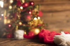 Концепция дня Санта Клауса абстрактный коричневый цвет предпосылки выравнивает изображение Стоковые Фото