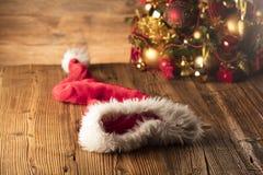 Концепция дня Санта Клауса абстрактный коричневый цвет предпосылки выравнивает изображение Стоковое Изображение