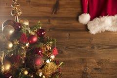 Концепция дня Санта Клауса абстрактный коричневый цвет предпосылки выравнивает изображение Стоковые Изображения