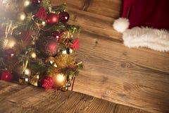 Концепция дня Санта Клауса абстрактный коричневый цвет предпосылки выравнивает изображение Стоковые Изображения RF