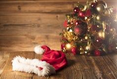 Концепция дня Санта Клауса абстрактный коричневый цвет предпосылки выравнивает изображение Стоковые Фотографии RF