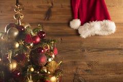 Концепция дня Санта Клауса абстрактный коричневый цвет предпосылки выравнивает изображение Стоковая Фотография RF