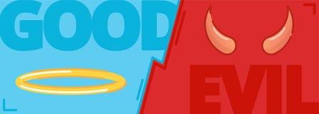 Концепция добра и зла, контраст противоположности бесплатная иллюстрация