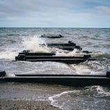 Концепция дока несенная пристанью побитая стоковая фотография