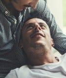 Концепция дома влюбленности пар гомосексуалиста Стоковые Фотографии RF