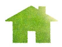 Концепция дома eco сделанная травы иллюстрация штока