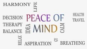 Концепция душевного спокойствия, мотивационных и вдохновляющего Белая предпосылка видеоматериал