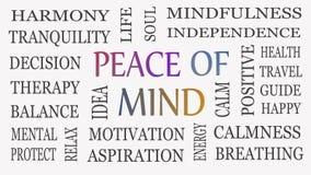 Концепция душевного спокойствия, мотивационных и вдохновляющего стоковое фото rf
