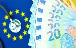 Концепция евро-зоны Стоковое Фото